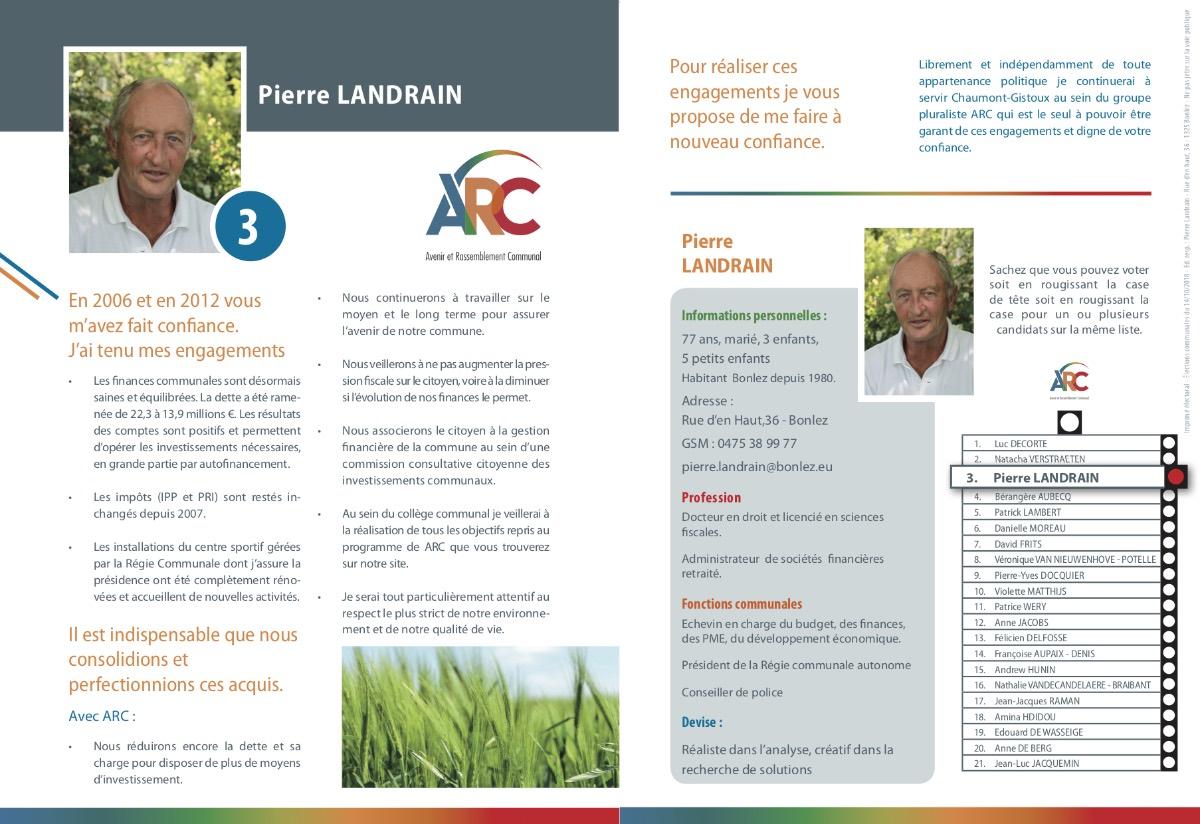Tract de Pierre Landrain