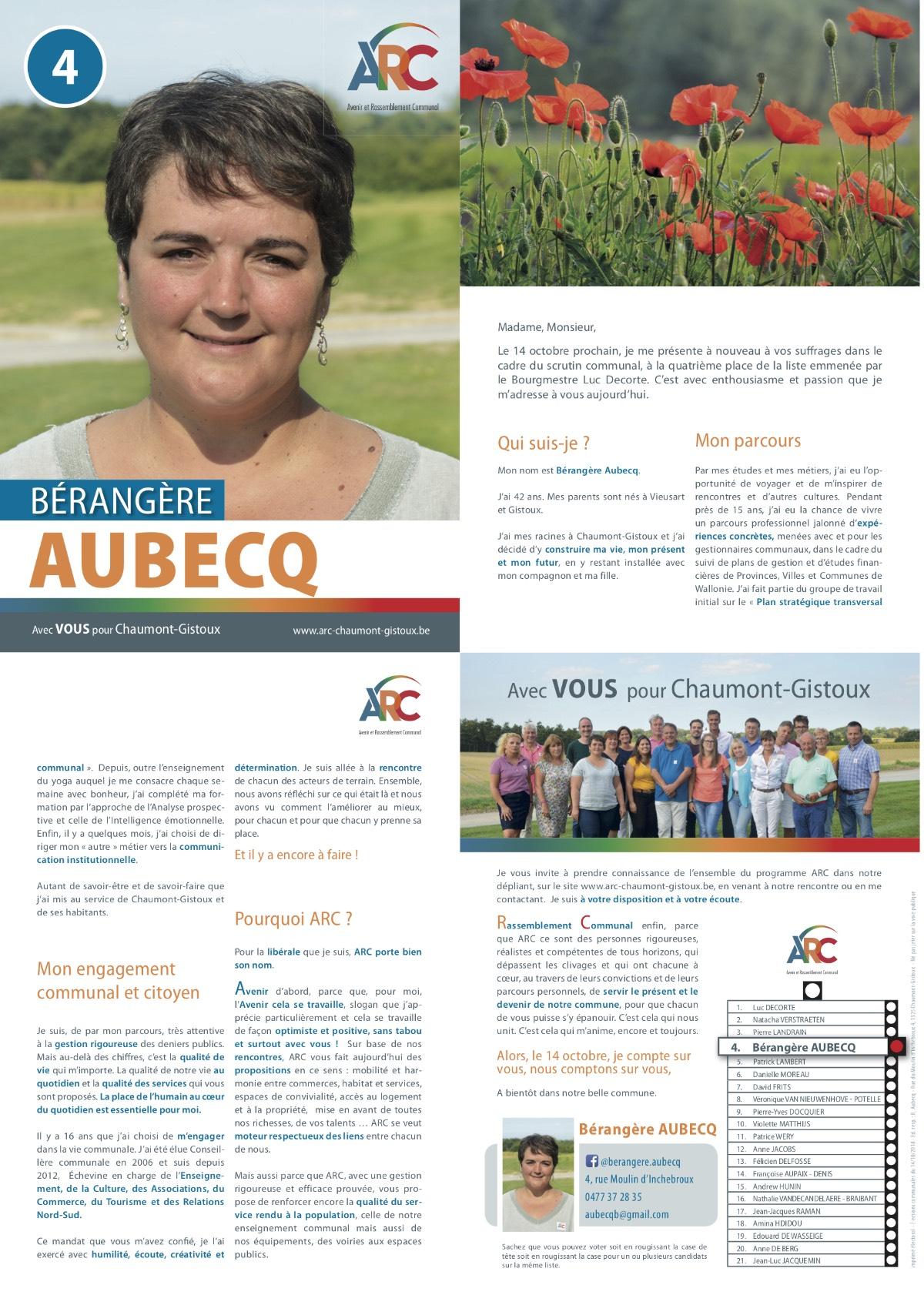 Téléchargez le tract personnel de Bérangère AUBECQ en .pdf (2 MB)