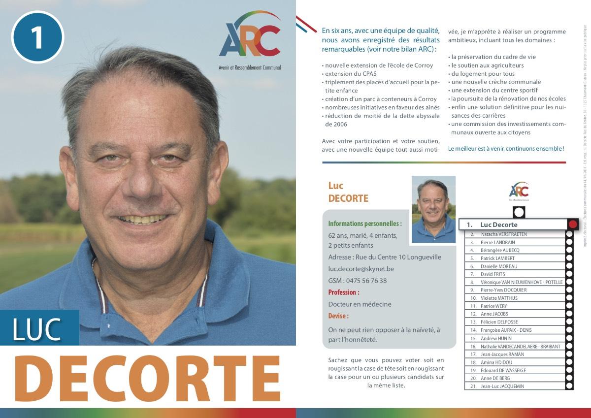 Téléchargez le tract personnel de Luc DECORTE en .pdf (1,8MO)