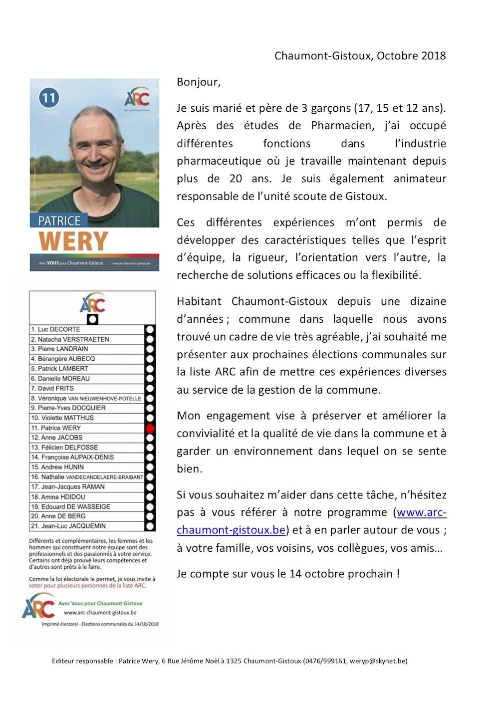 Téléchargez le tract personnel de Patrice WERY en .pdf (240 KB)
